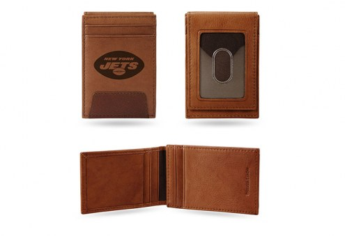 New York Jets Premium Leather Front Pocket Wallet