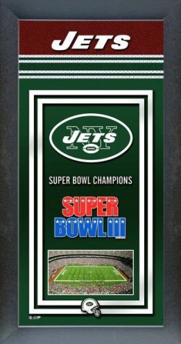 New York Jets Framed Championship Print