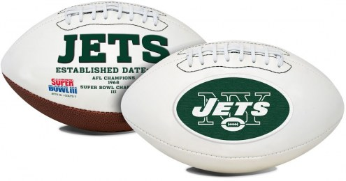 New York Jets Full Size Embroidered Signature Series Football