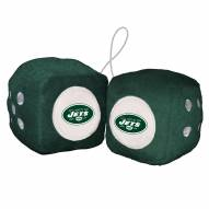 New York Jets Fuzzy Dice