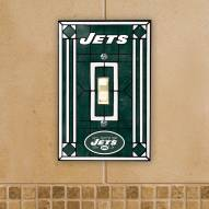 New York Jets Glass Single Light Switch Plate Cover
