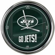 New York Jets Go Team Chrome Clock