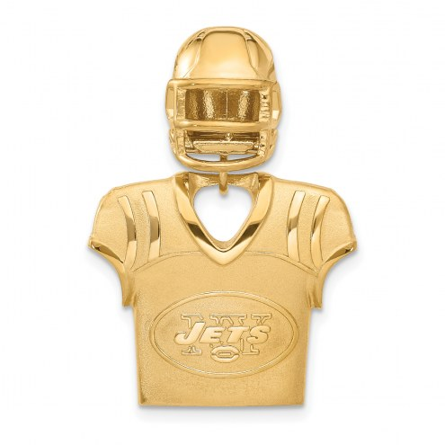 New York Jets Gold Plated Jersey & Helmet Pendant
