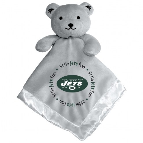 New York Jets Gray Infant Bear Security Blanket