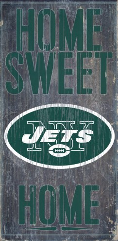 New York Jets Home Sweet Home Wood Sign