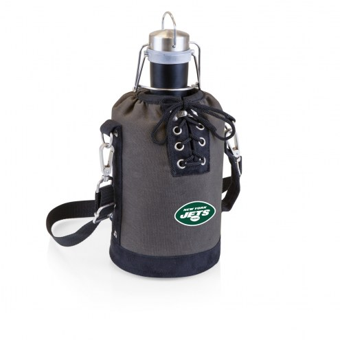 New York Jets Insulated Growler Tote with 64 oz. Stainless Steel Growler