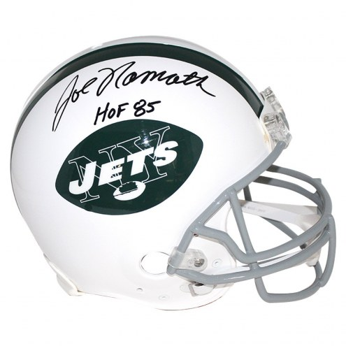 New York Jets Joe Namath Signed Authentic Throwback Helmet w/ HOF 85