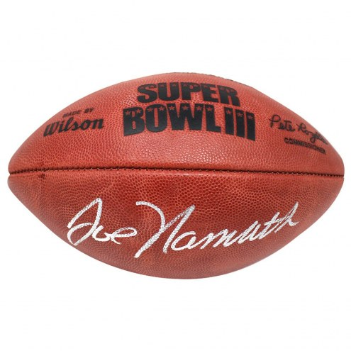 New York Jets Joe Namath Signed Super Bowl 3 Football