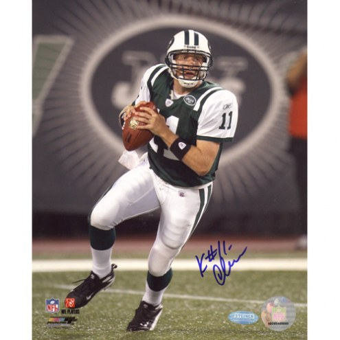 """New York Jets Kellen Clemens Stepping Up in the Pocket Signed 16"""" x 20"""" Photo"""