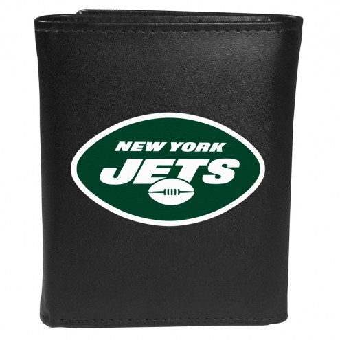 New York Jets Large Logo Leather Tri-fold Wallet