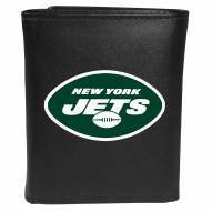 New York Jets Large Logo Leather Tri-fold Wallet