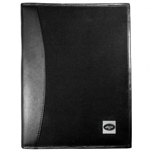 New York Jets Leather and Canvas Padfolio