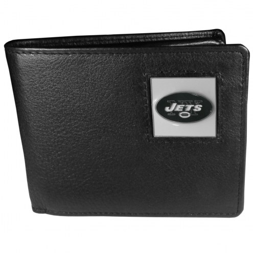 New York Jets Leather Bi-fold Wallet in Gift Box