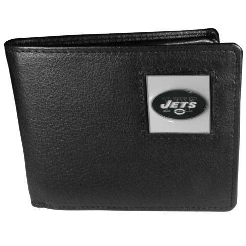New York Jets Leather Bi-fold Wallet