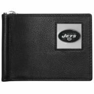 New York Jets Leather Bill Clip Wallet