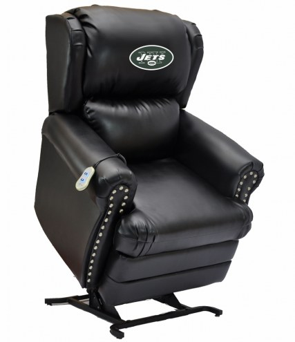 New York Jets Leather Coach Lift Recliner