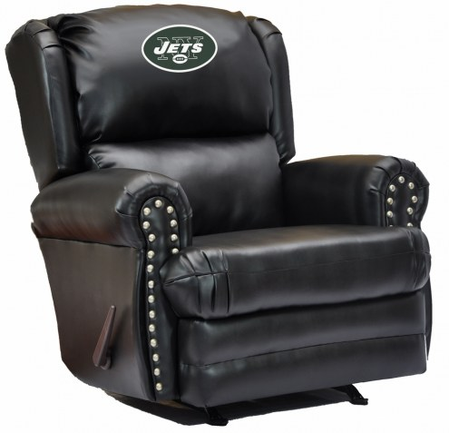 New York Jets Leather Coach Recliner