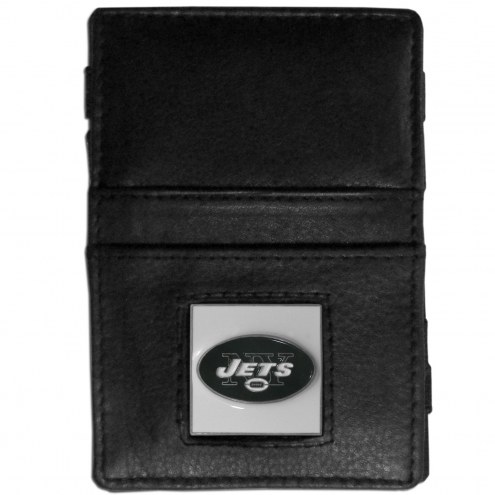 New York Jets Leather Jacob's Ladder Wallet