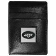 New York Jets Leather Money Clip/Cardholder in Gift Box