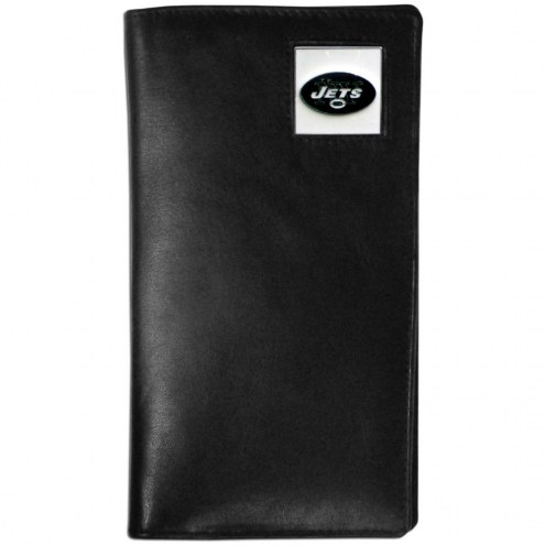 New York Jets Leather Tall Wallet