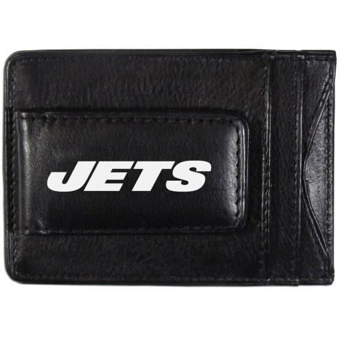 New York Jets Logo Leather Cash and Cardholder