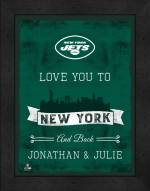 New York Jets Love You to and Back Framed Print