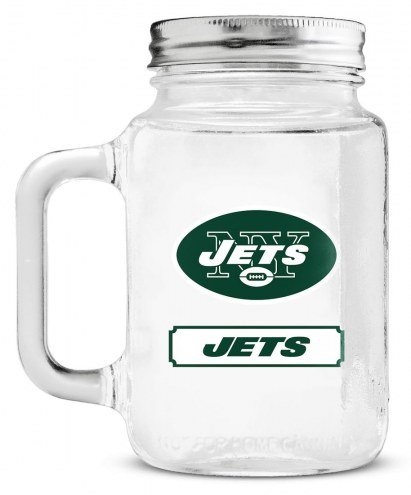 New York Jets Mason Glass Jar