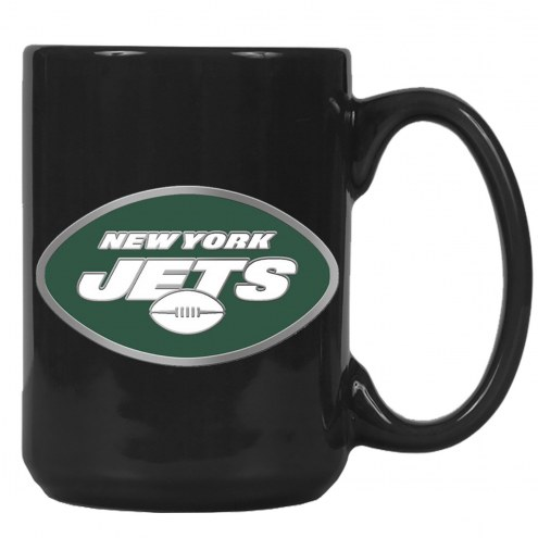 New York Jets NFL 2-Piece Ceramic Coffee Mug Set