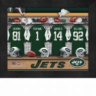 New York Jets NFL Personalized Locker Room 11 x 14 Framed Photograph
