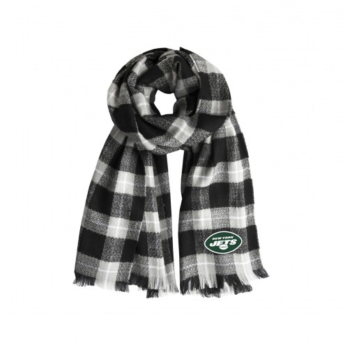 New York Jets Plaid Blanket Scarf