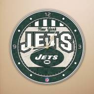 New York Jets NFL Stained Glass Wall Clock