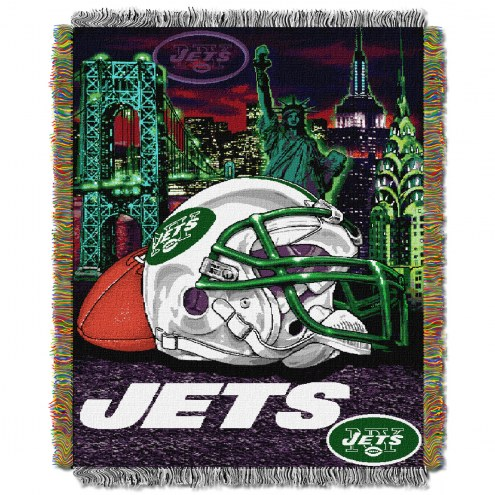 New York Jets NFL Woven Tapestry Throw
