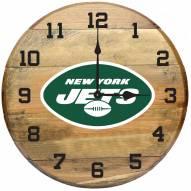 New York Jets Oak Barrel Clock