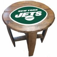 New York Jets Oak Barrel Table
