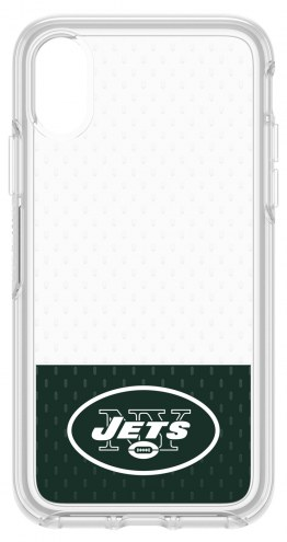 New York Jets OtterBox iPhone X Symmetry Clear Case
