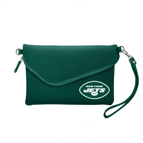 New York Jets Pebble Fold Over Purse
