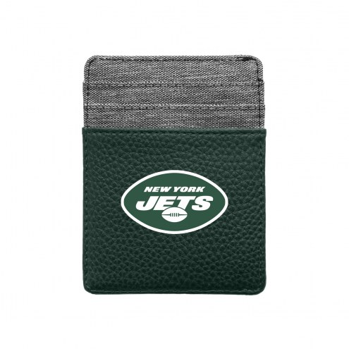 New York Jets Pebble Front Pocket Wallet