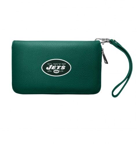 New York Jets Pebble Organizer Wallet
