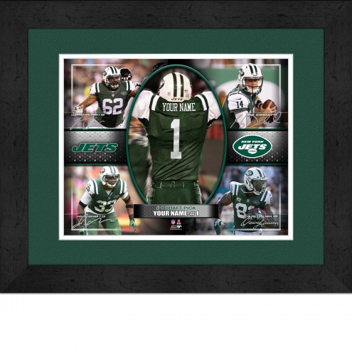 New York Jets Personalized 13 x 16 Framed Action Collage