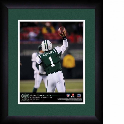 New York Jets Personalized 13 x 16 NFL Action QB Framed Print