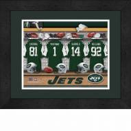 New York Jets Personalized Locker Room 13 x 16 Framed Photograph