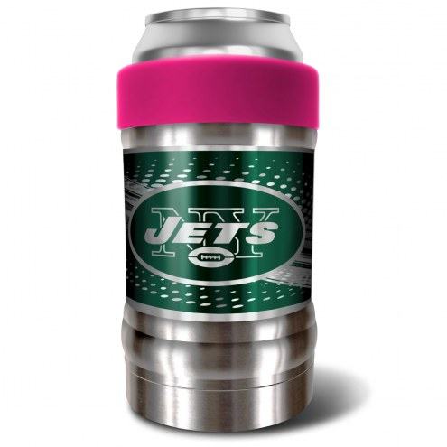 New York Jets Pink 12 oz. Locker Vacuum Insulated Can Holder
