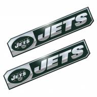 New York Jets Premium Edition Metal Car Emblem - 2 Pack