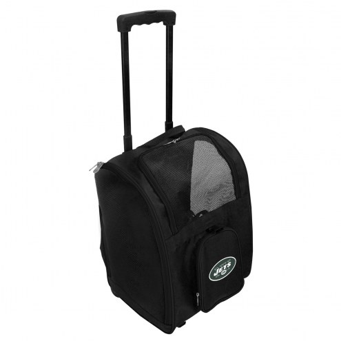 New York Jets Premium Pet Carrier with Wheels