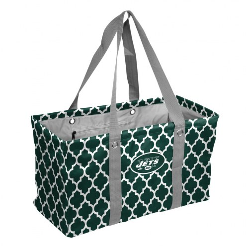 New York Jets Quatrefoil Picnic Caddy