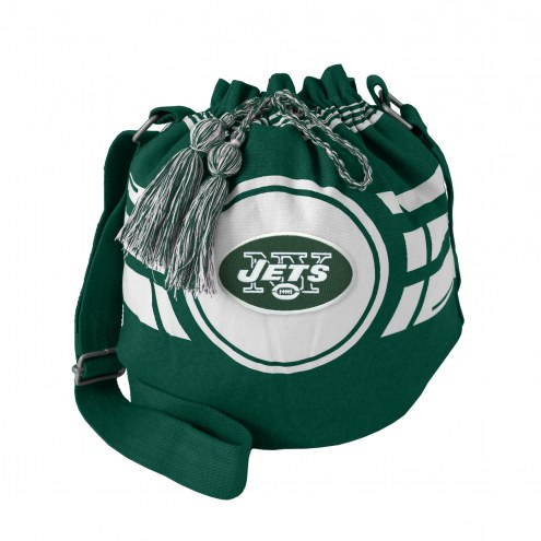 New York Jets Ripple Drawstring Bucket Bag