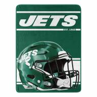 New York Jets Run Raschel Blanket
