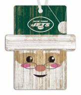 New York Jets Santa Ornament