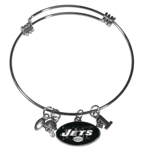 New York Jets Charm Bangle Bracelet