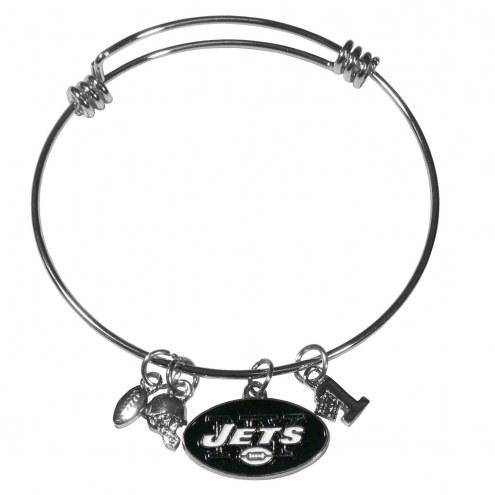 New York Jets Charm Bangle Bracelet